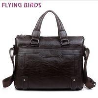 bags brifcase - Flying Birds men leather bags men messenger shoulder bag commercial brifcase purse for male SH367