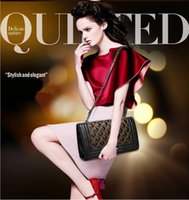 quilted handbags - 2015 fashion famous brands designer pu Leather bag CC quilted high quality chain lady shoulder hand bags women handbags