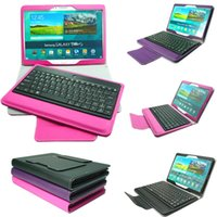 Wholesale 20pcs Removable Wireless Bluetooth Keyboard Case For Galaxy Tab S T800 T805C Folio PU Leather Case with Stand Keyboard Free DHL