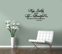 beautiful smile pictures - Keep Smiling Life Beautiful wall decals vinyl stickers home decor living room decoration wallpaper living room wall pictures