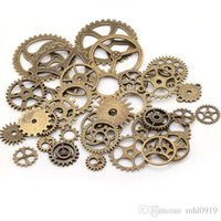 antique metal gears - New Antique Bronze Vintage Metal Zinc Alloy Steampunk Gears Charms Mixed Gear Charms Fit Jewelry Pendant Making C0003