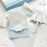 Wholesale High quality Showers of Love Umbrella Bookmark Cheap baby shower wedding favor gift for