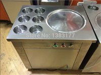 Wholesale flat pan fried ice cream roll machine fried ice machine freezing ice cream machine frying ice cream machine
