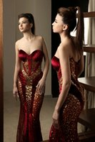 arab fashion designers - By the Lebanese Fashion designer Rami Salamoun Arab Dresses Sweetheart Neck Evening Dresses with Crystal Lace up Floor Length Formal Gowns