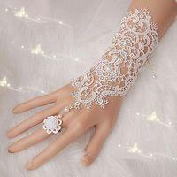 Wholesale New Hot Sale Fashion White Ivory Pearl Lace Wedding Bride Bridal Gloves Ring Bracelet