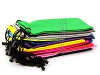 Wholesale waterproof leather plastic sunglasses pouch soft eyeglasses bag glasses case many colors mixed DT0134