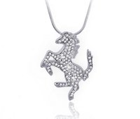 horse jewelry - Lady Alloy Austrian Crystal Necklace Stylish Horse Decorated Choker Pendant Necklace Charms Jewelry Gift Shinning Color