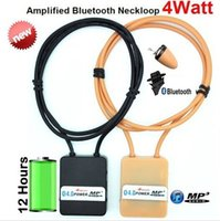 Wholesale 5pcs by DHL Watt Bluetooth Neckloop with Skin Color Magnetic Earpiece