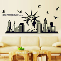 statues - Home Decoration New York Statue Of Liberty Diy Luminous Sticker on The Wall adesivo de parede Removable vinilos paredes