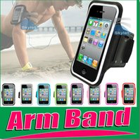 Wholesale 18 OFF Arm band Arm Case Sport running Case Workout Armband Holder Pounch For iphone4S G C S Cell Mobile Phone Arm Bag Band5pcs ZC