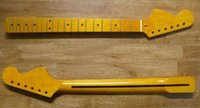 Wholesale Top quality F STRATOCASTER Electric Guitar Neck Maple Fret NECK for LARGE HEADSTOCK LEFT HAND