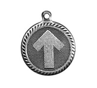 arrow road sign - Retail Zinc Alloy Metal Plating Arrow Road Sign Round Disc Charms