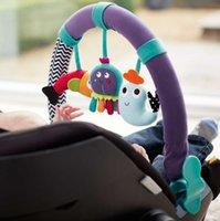 al por mayor juguetes del bebé para el asiento de coche-animales de la cama de bebé del cochecito de Asiento de coche clip torno colgante Sonajero de peluche de música de juguete
