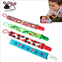 Wholesale Fashion Hight quality baby pacifier clips holder clip for baby pacifier chain belt Grosgrain Chevron Clip Strap Mix colors a953