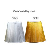 Wholesale x x cm Modern Fabric crystal Chandelier lampshade Silver gold fabric wall light lamp shades Clip On LS590005X