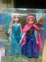Unisex china dolls - 2014 fashion kids toys baby frozen dolls action figures Elsa Anna dolls toddler toys made in china FREE EMS T001