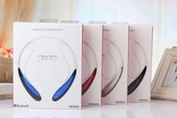 Wholesale HBS Sports Stereo Bluetooth Wireless Headset HBS Bluetooth Earphone Headphones for LG Iphone s samsung with Retail package