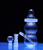 Wholesale Glass Milk Bottle Water Pipes Recycler Filter Percolators Smoking Shisha new water glass pipe Transparent