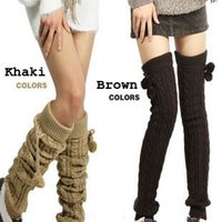 Wholesale Fashion Women s Crochet Long Socks Knitted Leg Warmers For Women Wool Warm Winter Knit Boot Cuff Socks Fur Leg Warmers Gaiters