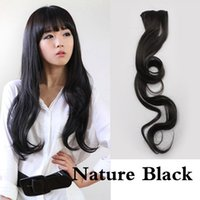 beautiful nature clips - Beautiful Nature Black Lady Curl Wavy Long Hair Extension Clip on Sexy Stylish NVIE