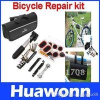 Wholesale Bike Bicycle Tyre Repair Multifunctional Tool Set Kit mini portable Pump
