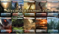 magic english - 40pcs mtg MTG Fetch Lands complete Unofficial diy card game english version board games Magic the Gathering proxy MTG cards game