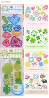 Wholesale 2016 New Handmade DIY Stationery Accessories Many Style Pattern Transparent PVC Stickers Home Décor Decorative Stickers Many Styles cm