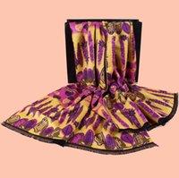 Wholesale Fashion luxury gift scarf Silk Cashmere Geometry Printed Pattern Tassels Plain Ms silk scarf shawl Size cm g