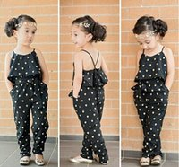 Wholesale hot sale new Fashion baby girl sling clothes girl summer style strap heart shaped onepiece jumpsuit girls pants kids clothes retail