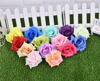 silk rose heads - 100pcs Artificial Rose Flower heads Colors Silk Peony Head Plastics Camellia for Wedding Party Home Decorative Flowers