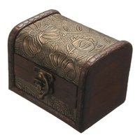 beauty jewelry chest - Vintage Jewellery Organizer Storage Flower Chest Wood Case Container Decorative Metal Lock Wooden Beauty Middle Size Box