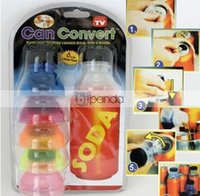 cans of soda - New Set of Soda Can Convert Turn any Soda can into a Resealable Bottle