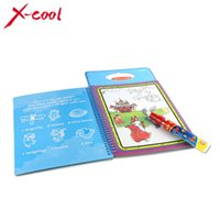 baby cardboard books - XC1392 New arrives Magic Kids Water Drawing Book with Magic Pen Intimate Coloring Book Water Painting Board