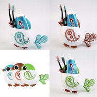 Wholesale Lovely Bird Shaped Tooth Brush Holder Suction Cup Storage Bathroom Kids Home