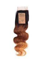 Wholesale Wigiss hair products closure brazilian body wave hair Lace Top Closure quot quot wave quot quot B Color H6120A