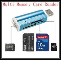 Wholesale 2015 new All in USB Multi Memory Card Reader Adapter Connector For Micro SD MMC SDHC TF M2 Memory Stick MS Duo RS MMC Retail Packag