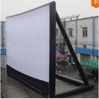 Wholesale 9 m Giant Inflatable Movie Screen Outdoor Inflatable Screen With Blower