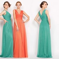 Reference Images A-Line V-Neck Top Selling 2015 V-neck A-line Chiffon Backless Bridesmaid Dresses Custom Made Formal Teen Modest Prom Evening Dresses Gowns WJ092829