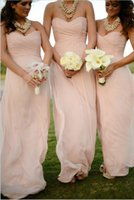 Cheap Chiffon 2014 Top selling Sweetheart Backless Empire Bridesmaid Dresses Ruched Floor length Custom made Floor length Cheap Wedding Party gown
