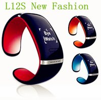 Wholesale factory wholesaler L12S New Fashion Upgraded OLED Touch Screen L12S Bluetooth Watch Bracelet Wrist Watch Phone