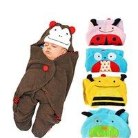 newborn baby clothing - 2015 Autumn Baby Hot Newborn Baby Sleeping Bags Cashmere Fabric Winter Receiving Blanket Toddler Envelope Wrap Clothing B