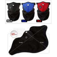 Wholesale Bicyle Cycling Motorcycle Fleece Half Helmet Face Mask Winter Hood Windproof Cap Headwear Thermal for Sports Ski Snowboard