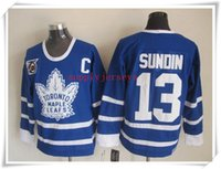 Wholesale 2016 ICE Hockey Jerseys Men Leafs Sundin CCM Blue ALL Stitched Mix Order Drop Shipping