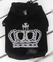 apparel crowns - Pet products dog clothes puppy dogs clothing apparel spring and winter rhinestone crown velvet wadded jacket