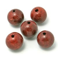 Wholesale 500pcs High Quality Wooden Beads mm Round Shape Natural Siam Rosewood Wood Beads for Bracelet DH BTE001