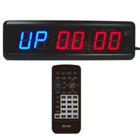venda por atacado led digital wall clock-Hiit CrossFit Fitness Intervalo Treinamento Timer Melhor para Ginásio Boxe Tabatha Workout Remoto LED Digital Wall Clock Design Decor Home Moderno