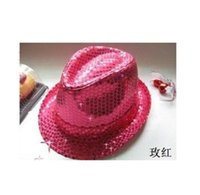 Wholesale sexy Adults Children sequin jazz hat dance props stage magic show a new hat for men and women