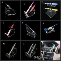 acrylic display case car - Acrylic e cig display clear stand shelf holder case box vape car rack for vapor ego evod battery e pipe ecig mech mod mechanical vaporizer