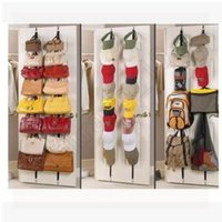 bathroom door organizer - 600pcs CCA3592 High Quality Over Door Straps Hanger Hooks Handbags Adjustable Hat Bag Clothes Coat Rack Organizer Hanging Rack Bag Rack