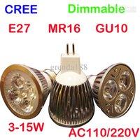 led m16 - LED light lamp spotlight led buld x4 w dimmable led GU10 E27 M16